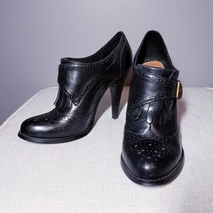 Black Leather Booties Size 7.5